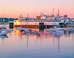 Ferry at Vineyard Haven Harbor in Early Morning Light, Martha's Vineyard, Tisbury, MA