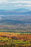 View of Flagstaff Lake, Mountains and Valleys from Quill Hill Scenic Drive Overlook, Rangeley Lakes Region, Dallas Plantation, ME