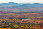 View of Lake, Mountains, Valleys, and Forests from Quill Hill Scenic Drive Overlook, Rangeley Lakes Region, Dallas Plantation, ME