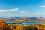 View of Rangeley Lakes and Mountains from Rangeley Lakes Scenic Overlook, Rangeley Lakes National Scenic Byway, Rangeley, ME