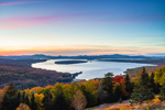 Sunset over Mooselookmeguntic Lake, View from Height of Land Overlook, Rangeley Lakes National Scenic Byway, Township D, ME