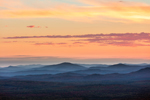 Mountain Layers at Sunset in Fall from Quill Hill Scenic Drive Overlook, Rangeley Lakes Region, Dallas Plantation, ME