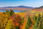 Deer Mountain and Mooselookmeguntic Lake in Fall, View from Rangeley Lakes National Scenic Byway, Rangeley Plantation, ME
