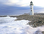 Gale Winds at Old Scituate Lighthouse