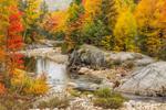 Swift River in Fall,  Rangeley Lakes National Scenic Byway, Rangeley Lakes Region, Byron, ME