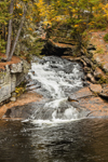 Waterfalls on Black Brook Flowing through Devils Den Gorge in Fall, Andover, ME