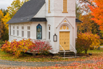 St. Matthews Episcopal Chapel in Fall, White Mountains Region, Sugar Hill, NH