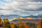 Early Morning Light over White Mountains in Fall, White Mountain National Forest, View from Jackson, NH
