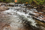 Upper Falls at Jackson Falls on Wildcat Brook in Autumn, White Mountains Region, Jackson, NH