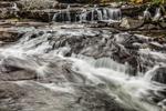 Upper Falls at Jackson Falls on Wildcat Brook, White Mountains Region, Jackson, NH