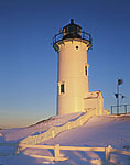 Nobska Point Light at Daybreak, Vineyard Sound, Cape Cod, Woods Hole