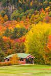 Jackson Village Covered Bridge at Wentworth Golf Club in Fall, White Mountains Region, Jackson, NH