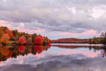 Reflections in Grafton Pond at Sunset in Fall, Grafton Pond Reservation, Dartmouth/Lake Sunapee Region, Grafton, NH
