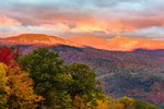 Eagle and Spruce Mountains at Sunrise in Fall, White Mountains Region, View from Jackson, NH