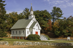 Saint Bridget Catholic Church (established 1883) in Fall, Cornwall, CT