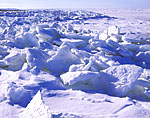 Ice Formations at Cape Cod Bay after Cold Spell