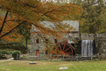 Old Grist Mill in Autumn at Historic Longfellow's Wayside Inn, Sudbury, MA