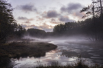 Wetlands and Ground Fog at Sunrise, Birch Hill Recreation and Wildlife Management Area, Winchendon, MA
