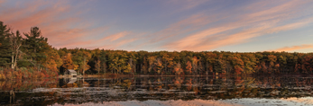 Eames Pond at Sunrise in Fall, Moore State Park, Paxton, MA
