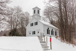 Green River Church in Winter, Village of Green River, Guilford, VT