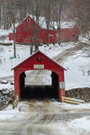 Green River Covered Bridge in Winter, Village of Green River, Guilford, VT