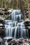 Waterfalls on Gunn Brook in Winter, Sunderland, MA