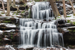 Waterfalls on Gunn Brook in Winter, Sunderland, MA