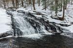 Chapel Falls on Chapel Brook in Winter, Chapel Brook Reservation, Ashfield, MA