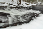 Chapel Falls on Chapel Brook in Winter, Chapel Brook Reservation, Ashfield, MA