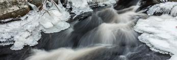 Small Cascades on Scott Brook in Winter, Fitzwilliam, NH