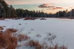 Scott Brook Wetlands at Sunset in Winter, Fitzwilliam, NH
