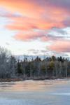 Sunset over Wetlands on Scott Brook, Fitzwilliam, NH