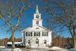 Chepachet Baptist Church in Winter, Village of Chepachet, Glocester, RI