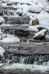 Cascades on Billings Brook in Winter, Griswold, CT