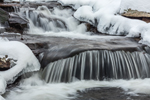 Close Up of Cascades on Billings Brook in Winter, Griswold, CT