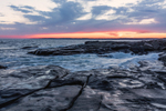 Sunset over Rocky Coast, Cape Neddick, York, ME