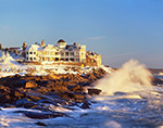 Maine Coast Mansion and Waves, Cape Neddick