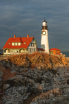 Late Evening Light Shines on Portland Head Light, Cape Elizabeth, ME