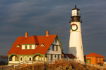 Late Evening Light Shines on Portland Head Light, Cape Elizabeth, ME