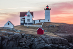 Sunrise at Nubble Light, (Cape Neddick Lighthouse), Cape Neddick, York, ME