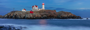 Nighttime at Nubble Light, (Cape Neddick Lighthouse), Cape Neddick, York, ME