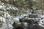 Rapids on Priest Brook after Snowstorm, Royalston, MA