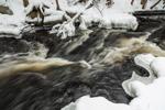 Cascades on Scott Brook in Winter, Fitzwilliam, NH