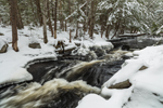 Cascades on Scott Brook in Winter, Fitzwilliam, NH