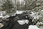 Rapids on Scott Brook in Winter, Fitzwilliam, NH