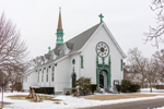 """Our Lady Star of the Sea"" Church, The Good Shepherd Parish in Winter, Martha's Vineyard, Oak Bluffs, MA"