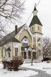 Trinity Methodist Church in Winter, Built in 1878, Trinity Park, Martha's Vineyard, Oak Bluffs, MA
