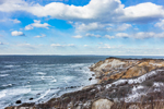 Gay Head Cliffs in Winter, Martha's Vineyard, Aquinnah, MA