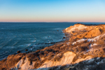 Late Evening Light on Gay Head Cliffs in Winter, Martha's Vineyard, Aquinnah, MA