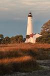 St. Marks Lighthouse in St. Marks National Wildlife Refuge, Gulf Coast, Florida Panhandle, Wakulla County, St. Marks, FL